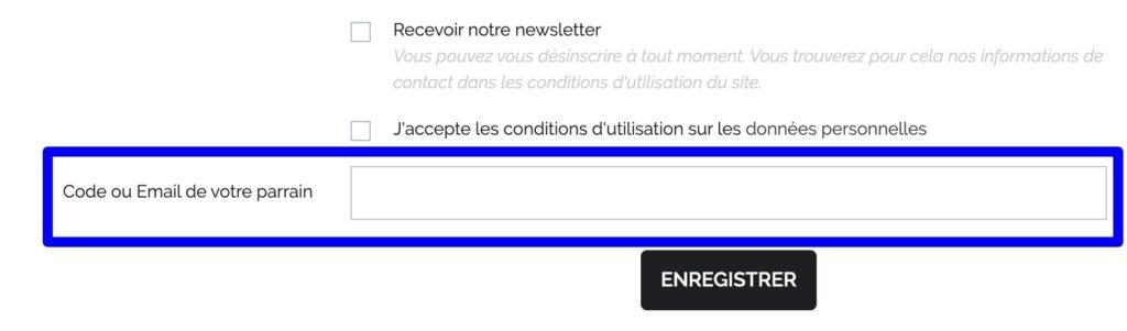 code parrain laboratoires biarritz