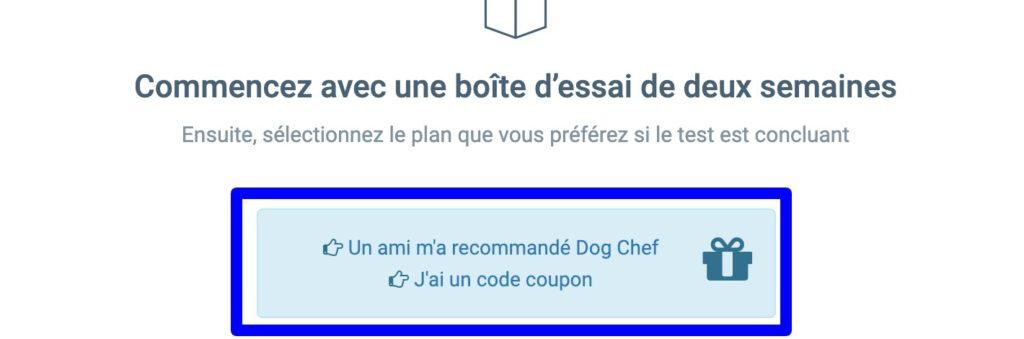 code promo parrainage Dog-Chef